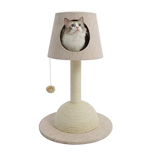 ZHHAOXINPA Gemütlich Tischlampe Katze Kletterrahmen Katzennest Kratzbaum eine Katze Kratzbaum kleine Luxuskatze Fass Massivholz Katzenständer Katze liefert Kleines Haustier