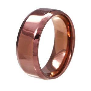 sr0073-25-wideBROWN [ブランド名:2PIECES] ステンレスリング 指輪 メンズ レディース ペア向き ((太)ブラウン-25号)