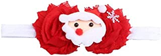 Christmas Merry Wishes Christmas Elastic Headbands Headwraps Hair Band Hair Hoop with Fake Flower for Women Toddler Baby G...