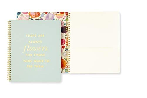 Kate Spade New York Large Spiral Notebook, 11' x 9.5' with Pocket and 160 College Ruled Pages,...