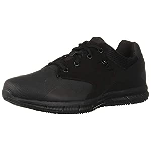Fila Men's Memory Layers Slip Resistant Work Shoe Food Service, Black, 9