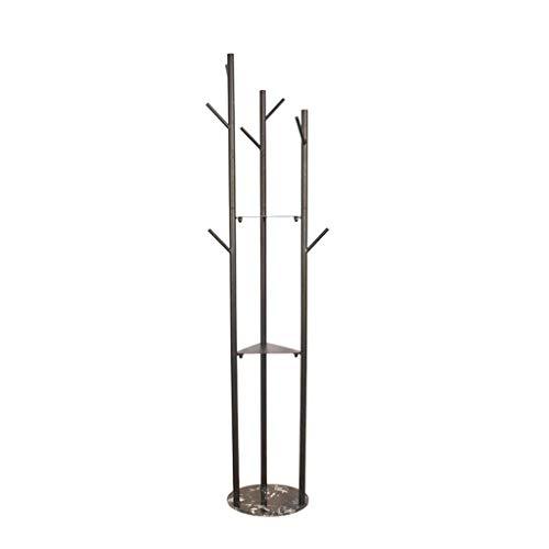 LSNLNN Percha, Pasillo Muebles Backs Racks Forjado Hierro Ropa Ganchos, Chasis de Mármol Capa Soporte Metal Vertical Flower Stand Creative Nordic Style Multi Propósito,D,170 * 32 cm
