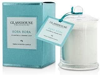 Glasshouse Triple Scented Candle - Bora Bora (Cilantro & Orange Zest) 60g