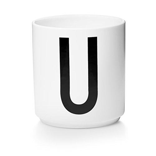 Design letters - beker - letterbeker - letters U - porselein - Arne Jacobsen