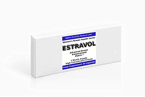 Estravol - Brustvergrößerung Pillen, 100% Erstattung Garantie (Bitte messen Sie vor 2 Menstruationen), 30 Kapseln
