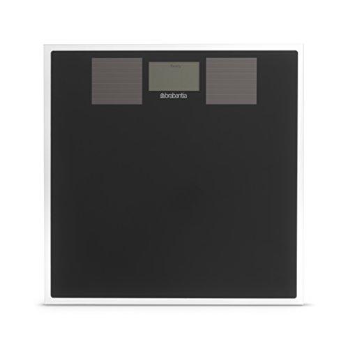 Brabantia 483103 - Báscula solar de vidrio, color negro
