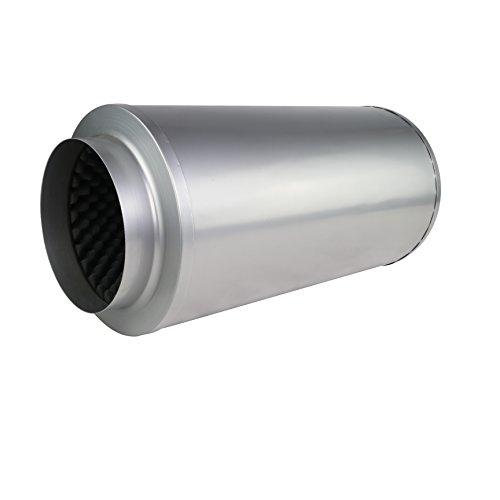 LABT Rohrschalldämpfer mit Akustikschaum Lüftung Zu und Abluft Durchmesser 200 mm Dämmstärke 50 mm Grow