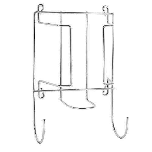2 in 1 Bügeleisen & Bügelbretthalter | Wand-, Tür- oder Schrankaufhänger-Organizer | Polierter Chromstahl | M&W