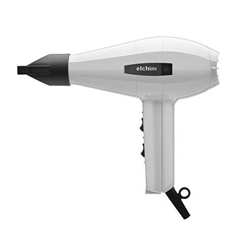 Elchim Classic 2001 Hair Dryer: Light 1875 Watt Quick Dry Professional Salon Blow Dryer - White