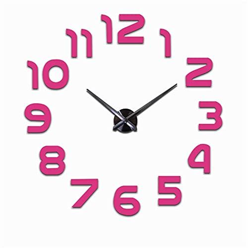 Reloj de cocina números árabes reloj de pared gigante espejo pegatina breve 3D DIY relojes reloj sala de estar decoración sala de reuniones hotel vestíbulo pared