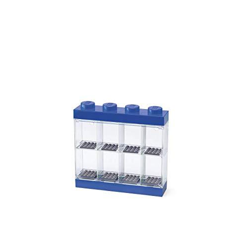 Room Copenhagen- Lego-Caja de almacenaje para Minifiguras con diseño de ladrillo 8, Color Azul 40650005
