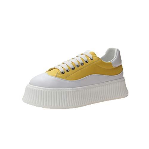 Dames Creepers Schoenen Ronde Neus Veters Platform Espadrilles Casual Sport Wandelen Flats Lage Ademende Dikke Sneakers