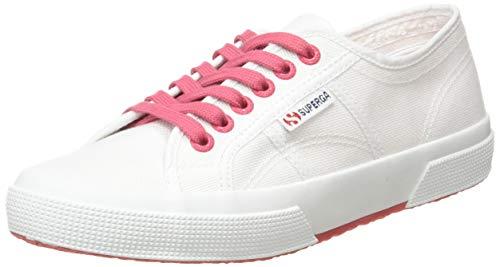 Superga 2750-COTCONTRASTU, Zapatillas de Gimnasia Unisex, Blanco (White/Pink Extase A0e), 41 EU