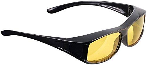 PEARL Kontrastbrillen: Überzieh-Nachtsichtbrille Night Vision Pro für Brillenträger (Nachtbrille für Brillenträger)