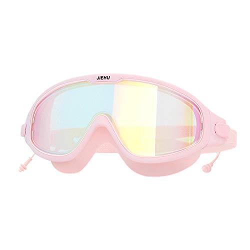 Eteng Gafas de natación, visión clara, gran angular, marco suave y diadema ajustable, gafas de natación antivaho, anti-UV, para hombres, mujeres, niños, adultos y jóvenes