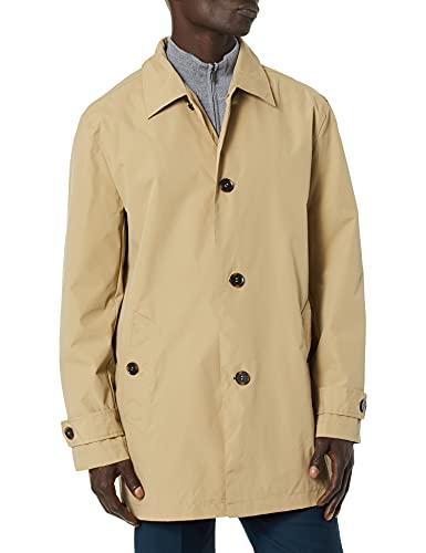 Cole Haan Signature Men's Classic Stand Collar rain Jacket, Khaki, X-Large