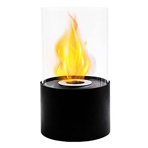 Black Bioethanol Fireplace, Tabletop Fire Bowl Ethanol Fire Pit Bio...
