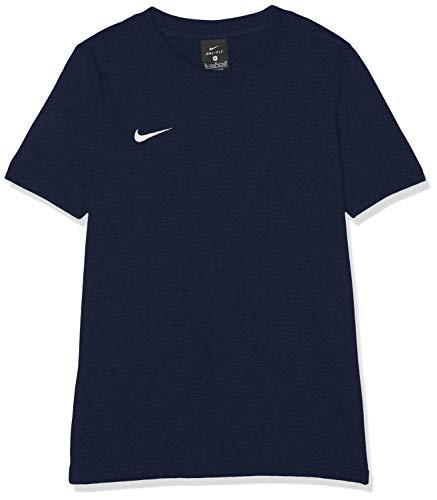 Nike Team Club 19 Tee T-Shirt Mixte Enfant, Obsidian/Obsidian/Obsidian/Blanc, FR (Taille Fabricant : XS)