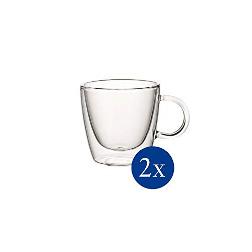 Villeroy & Boch Artesano Hot & Cold Beverages Tasse M, 2er-Set, 220 ml, Borosilikatglas, Klar