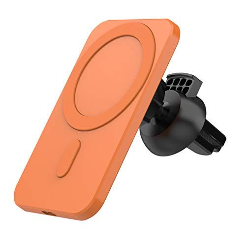 Cargador inalámbrico para automóvil, soporte magnético para automóvil de carga rápida Qi de 15 W, soporte para teléfono con ventilación de aire compatible con iphone 12 / Mini / 11 Pro Max