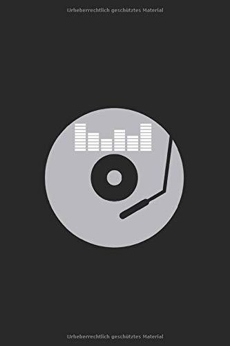 Notizbuch Der DJ und Plattenspieler: Feiern I Tagebuch I liniert I 100 Seiten