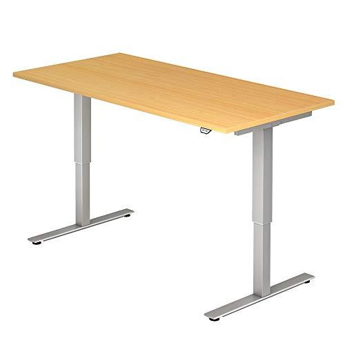 A-Series Elektrisch höhenverstellbarer Schreibtisch AS1258 mit Memoryschalter, Tischplatte 160x80cm (BUCHE)