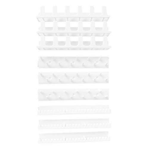 teng hong hui 9 Piezas de joyería Colgantes Organizador Conjunto Organizador de la joyería Adhesiva montado en la Pared Soporte de plástico Collar de la suspensión de Accesorios de Almacenamiento