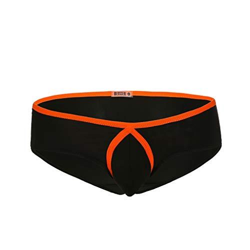Kolila Herren Knickers Shorts Sommer Komfort Atmungsaktiv EIS Seide Cool Boxer Shorts Unterhose Badehose mit Bulge Pouch