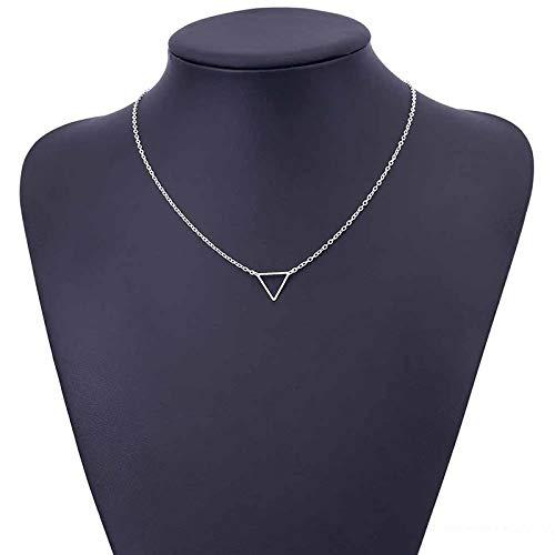Collar Joyas Collar De Cadena Triangular con Recorte Creativo para Mujer, Colgante Geométrico Dorado Encantador para Mujer, Joyería para Fiesta De BOD