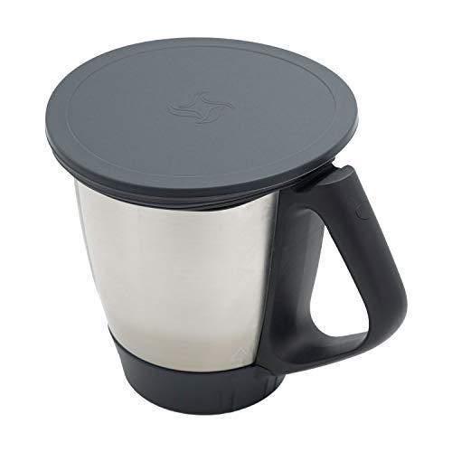 Wundermix Silikon-Deckel für Thermomix TM6/TM5/TM31 | Dehnbares Frischhalte-Deckel BPA-frei & wiederverwendbar | perfekt für die Aufbewahrung von Lebensmitteln | Anthrazit