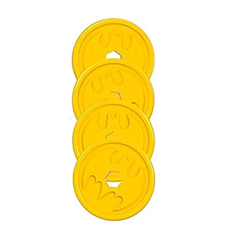 Replacement Parts for Imaginext Super-Friends Batbot - FGF37 SuperFriends Bat-Bot X-Treme   Includes 4 Replacement Discs of Yellow, Blue or Red