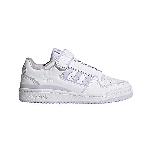 Zapatilla Mujer Adidas Forum Plus Color White/Cloud White/Purple Tint Talla 37 1/3