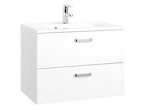 möbelando Waschtisch Badmöbel Waschbecken Waschplatz Badezimmermöbel Schrank Bologna I (70 cm)
