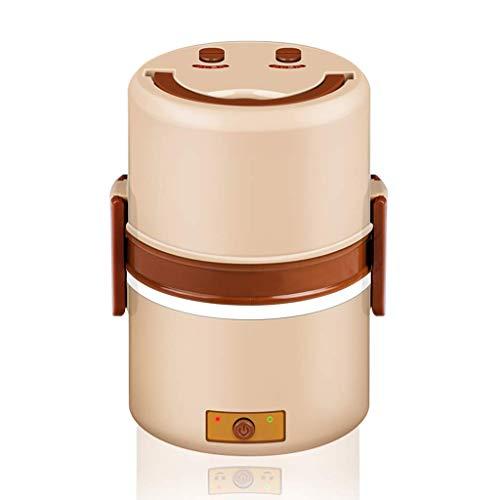 ZGQA-GQA El almuerzo Bento Box eléctrico unidad puede ser conectada calefacción eléctrica de aislamiento Cinturón de cocción Oficina del arroz caliente arroz al vapor Artefacto Trabajador 1.5L Brown (