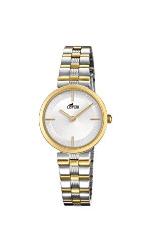 Lotus Watches Reloj Análogo clásico para Mujer de Cuarzo con Correa en Acero Inoxidable 18542/1