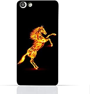 OPPO F3 Plus TPU Silicone Case With Horse On Flame Design