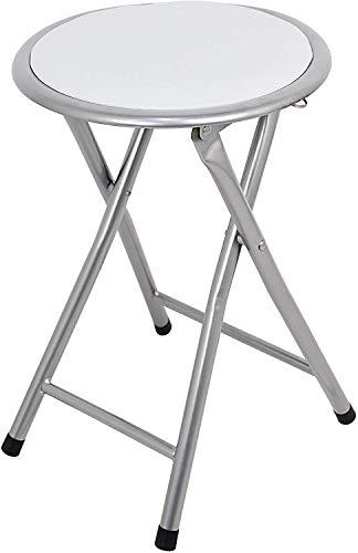 TIENDA EURASIA Taburete Plegable de Aluminio con Asiento Acolchado. Medidas: 40x30x30cm Ideal para Cocina, Comedor, Salón,...