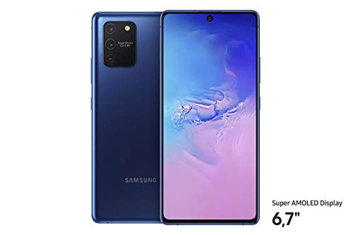 Samsung Galaxy S10 Lite Android Smartphone ohne Vertrag, 4.500 mAh Akku, Schnellldaden, 6,7 Zoll Super AMOLED Display, 128 GB/8 GB RAM, Dual SIM, Handy in blau, deutsche Version