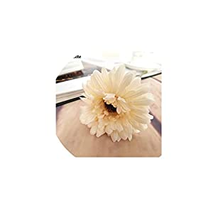 1pc Silk Flowers Artificial Flowers Simulation Chrysanthemum Daisy Tissue Hand Made Wedding Decoration Gifts,Milk White
