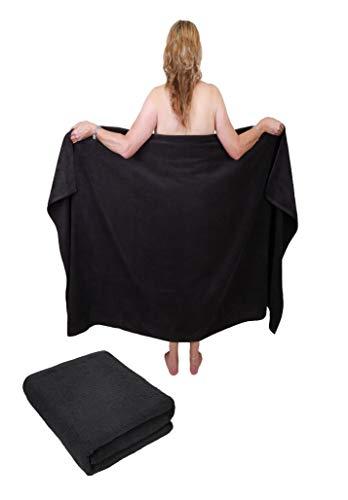 Betz 2 Stück Badetuch groß XXL Größe 100 x 200 cm Badetücher Saunatuch Set Dresden 100% Baumwolle Farbe anthrazit