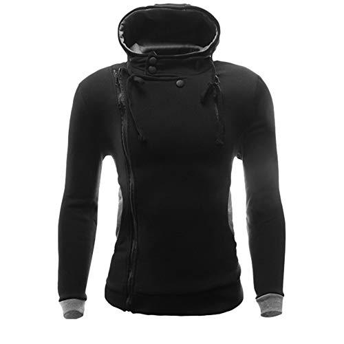 Luckycat Herren Herbst Winter Langarm Button Slim Casual Reißverschluss Tops Bluse Mantel Mode 2018