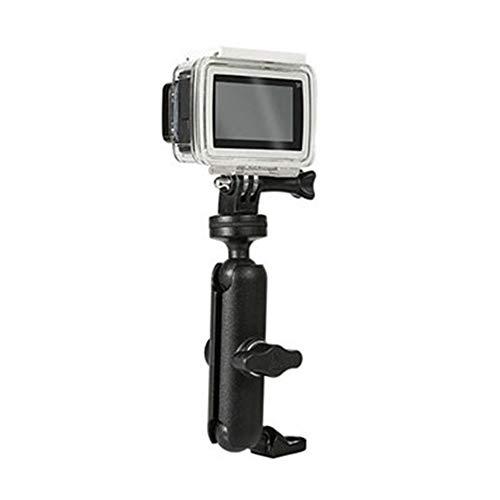 HnF Soporte de cámara de Bicicleta, Soporte de Montar de Manillar de Motocicleta 360 ° 1/4 Soporte de Metal para gopro héroe 9/8/7/6/5/4/3 + Accesorios de cámaras de acción