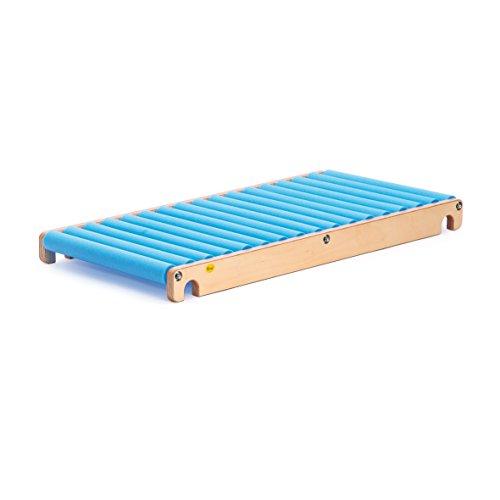 Erzi Diapositiva Rodillo S, tobogán de formación, de Madera / Espuma, Dimensiones 115 x 58 x 10,5 cm, Naturaleza Azul