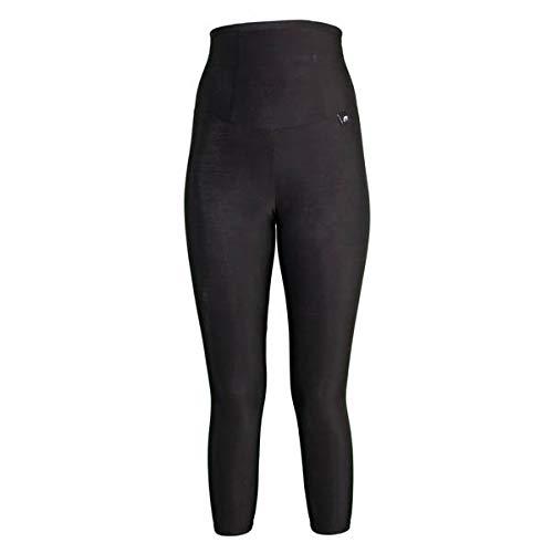 Black Size 22 Slim and Shape by Proskins High Waisted Capri Sport Leggings