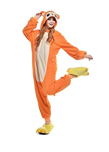 Ducomi Kigurumi Pijamas Disfraces Divertidos - Pijamas Unisex Adulto Cosplay Disfraz de Animal - Peluche Halloween y Carnaval Mujer Hombre - Pijama Tuta Unicornio, Koala, Panda (Monkey, XL)