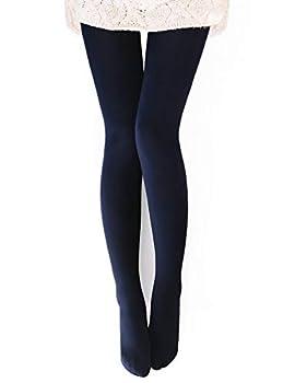 VERO MONTE 1 Pair Womens Opaque Warm Fleece Lined Tights  NAVY  48521