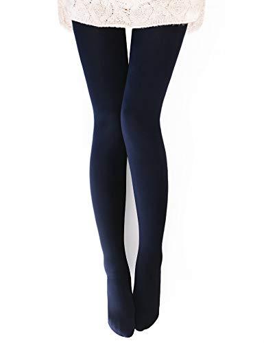 "VERO MONTE - Collant invernali termici da donna foderati in caldo pile - blu - (altezza:5'3/5'7""/peso:40/68 kg)"