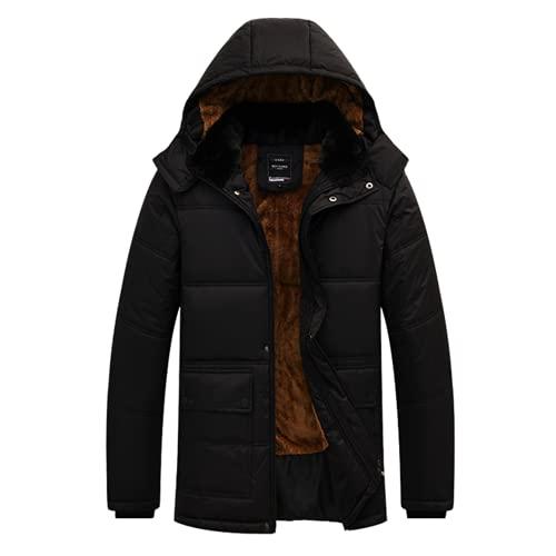 남성 자켓 코트는 따뜻한 겨울 방풍 재킷을 두껍게합니다. PARKA 후드 톱니없는 재킷