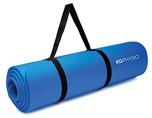 KG Physio Yoga Mat - Tapis Yoga Antidérapant avec Sangle de Tapis de Yoga Incluse - 183 cm x 60 cm x 10 mm Tapis de Sport Fitness a la Maison Extra...