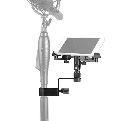 Neewer Music Boom Microphone Stand Smartphone Mount Adjustable Holder Compatible with iPhone 11 Pro XR XS MAX X 8 Plus Samsung Galaxy S9 S10 Note Google Pixel XL Phones (Holder Open Length: 14-18cm)